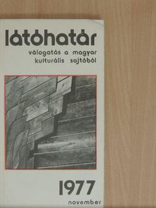 Aczél György - Látóhatár 1977. november [antikvár]
