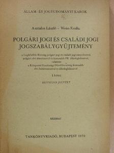 Asztalos László - Polgári jogi és családi jogi jogszabálygyűjtemény I. [antikvár]