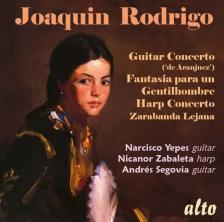 RODRIGO - GUITAR & HARP CONCERTOS CD YEPES, ZABALETA, SEGOVIA