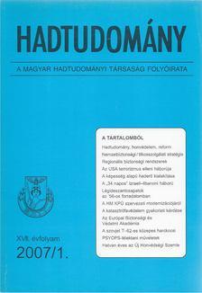 Nagy László - Hadtudomány XVII. évfolyam 2007/1. [antikvár]