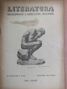 Dr. Fejérváry Géza Gyula - Literatura 1931. junius [antikvár]