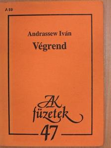 Andrassew Iván - Végrend [antikvár]