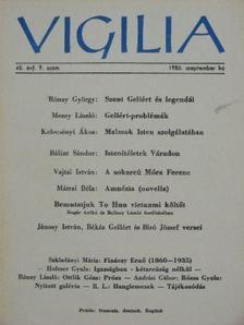 Bálint Sándor - Vigilia 1980. szeptember [antikvár]