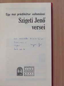 Szigeti Jenő - Szigeti Jenő versei (dedikált példány) [antikvár]