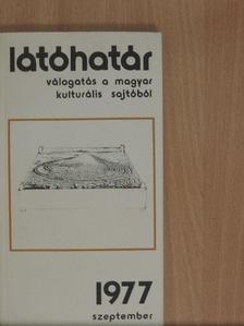 Bertók László - Látóhatár 1977. szeptember [antikvár]