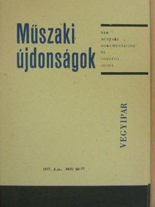 Szilágyi László - Műszaki Újdonságok 1977/6. MUV 66-77 [antikvár]