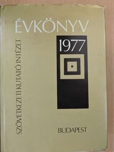 Agonács Gábor - Szövetkezeti Kutató Intézet Évkönyv 1977 [antikvár]