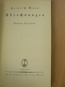Heinrich Mann - Abrechnungen (gótbetűs) [antikvár]