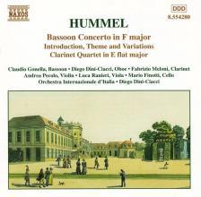 HUMMEL - BASSOON CONCERTO IN F CD DINI-CIACCI, GONELLA