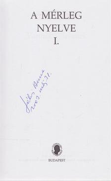 Jókai Anna - A mérleg nyelve I. (aláírt) [antikvár]