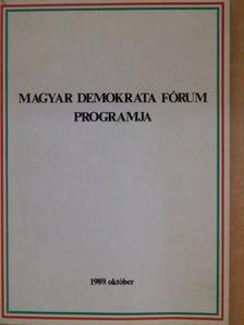 Beke Kata - Magyar Demokrata Fórum programja [antikvár]