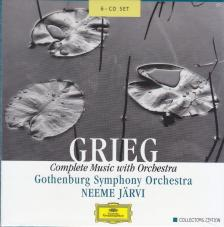 GRIEG - COMPLETE MUSIC WITH ORCHESTRA 6CD NEEME JARVI, GOTHENBURG SYMPHONY ORCHESTR