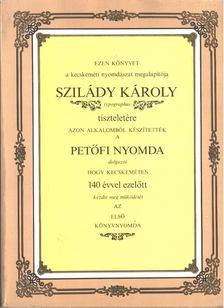 Tóth Sándor - Szilády Károly emlékkönyv [antikvár]
