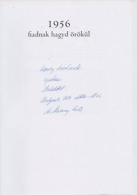 Marossy Endre - 1956 - Fiadnak hagyd örökül (dedikált) [antikvár]