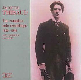 FALLA, LALO, ALBÉNIZ... - THE COMPLETE SOLO RECORDINGS 1929-1936 2CD JACQUES THIBAUD
