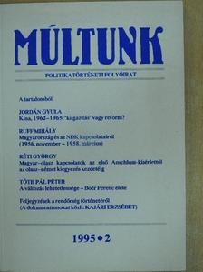 Horváth Miklós - Múltunk 1995/2. [antikvár]
