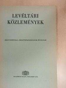 Bendefy László - Levéltári közlemények XLVIII-XLIX.  [antikvár]