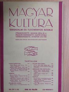 B. B. - Magyar Kultúra 1934. március 5. [antikvár]