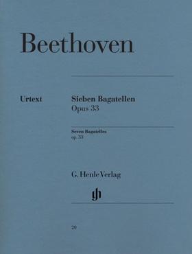 BEETHOVEN - SIEBEN BAGATELLEN OP.33