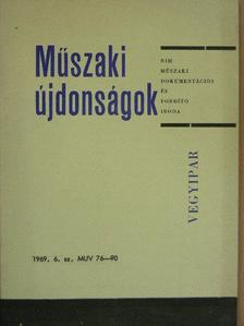 Borlai Oszkár - Műszaki Újdonságok 1969/6. MUV 76-90 [antikvár]
