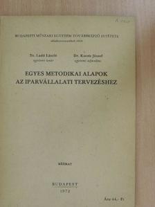 Dr. Kocsis József - Egyes metodikai alapok az iparvállalati tervezéshez [antikvár]