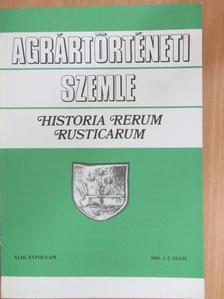 Fodor Zoltán - Agrártörténeti Szemle 2001/1-2. [antikvár]