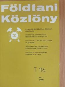 Balázs Éva - Földtani Közlöny 1986/2. [antikvár]