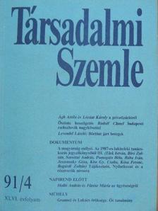 Ágh Attila - Társadalmi Szemle 1991. április [antikvár]