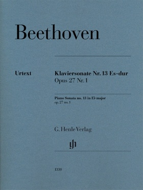 BEETHOVEN - KLAVIERSONATE NR.13 ES-DUR OP.27 NR.1