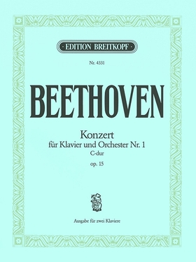 BEETHOVEN - KONZERT FÜR KLAVIER UND ORCHESTER NR.1 C-DUR OP.15. AUSGABE FÜR ZWEI KLAVIERE