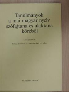 Berrár Jolán - Tanulmányok a mai magyar nyelv szófajtana és alaktana köréből [antikvár]