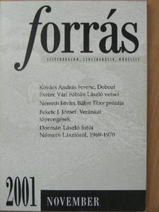 Alföldy Jenő - Forrás 2001. november [antikvár]