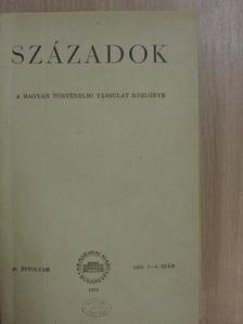 Györffy György - Századok 1958/1-6. [antikvár]