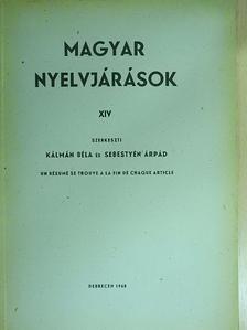 Balogh Lajos - Magyar nyelvjárások XIV. [antikvár]