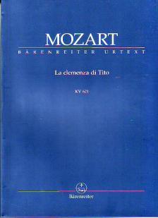 MOZART, W,A, - LA CLEMENZA DI TITO KV 621 STUDIENPARTITUR URTEXT, HERAUSGEGEBEN VON FRANZ GIEGLING