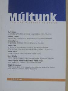 Kozma Ferenc - Múltunk 2001/4. [antikvár]