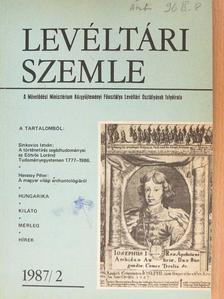 Albrechtné Kunszeri Gabriella - Levéltári Szemle 1987/2. [antikvár]