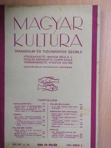 Bartha István - Magyar Kultúra 1934. június 5. [antikvár]