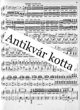 Bartók Béla - RHAPSODIE POUR LE PIANO ET L'ORCHESTRE. POUR 2 PIANOS A 4 MAINS PAR L'AUTEUR, ANTIKVÁR PÉLDÁNY