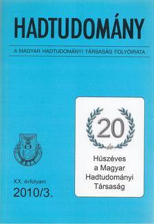 Nagy László - Hadtudomány XX. évfolyam 2010/3. [antikvár]