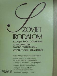 Botka Ferenc - Szovjet Irodalom 1986/6. [antikvár]
