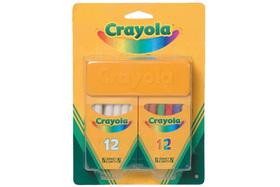 Crayola 2 x 12 db pormentes kréta törlővel