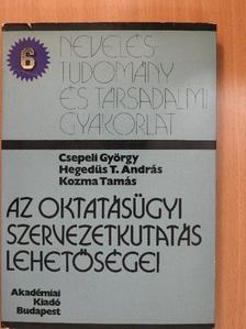 Csepeli György - Az oktatásügyi szervezetkutatás lehetőségei [antikvár]