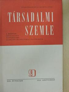 Dimény Imre - Társadalmi Szemle 1958. szeptember [antikvár]