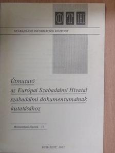 Dr. Marián Miklós - Útmutató az Európai Szabadalmi Hivatal szabadalmi dokumentumainak kutatásához [antikvár]