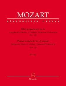 MOZART, W,A, - KONZERT IN A FÜR KLAVIER UND ORCHESTER NR.12 KV 414 - AUS. FÜR KLAVIER.,2 VIOLINEN, VIOLA UND VC.