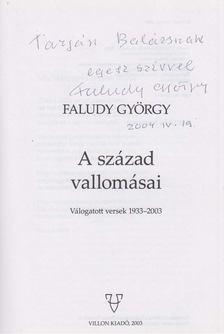 Faludy György - A század vallomásai (dedikált) [antikvár]