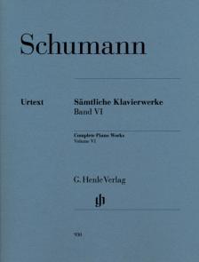 Schumann, Robert - SAEMTLICHE KLAVIERWERKE BAND VI URTEXT (HERRTRICH/MÜNSTER/SEIFFERT)
