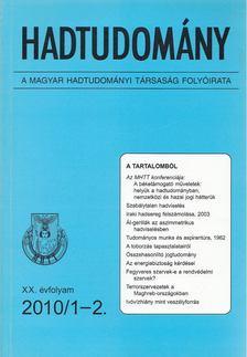 Nagy László - Hadtudomány XX. évfolyam 2010/1-2. [antikvár]