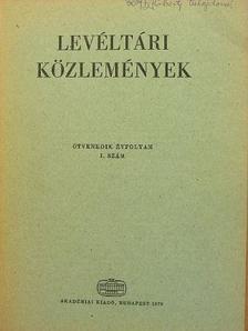 Borsa Iván - Levéltári közlemények L. 1. szám [antikvár]